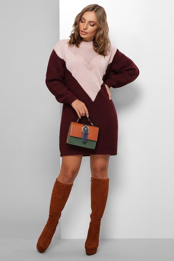Сукня 181 GL61816 колір пудра-марсала