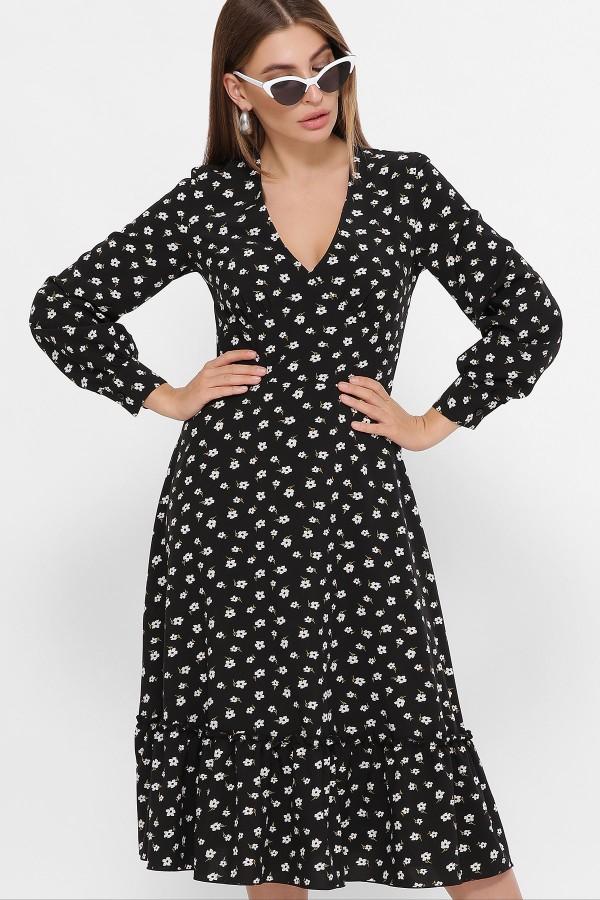 Сукня Даніта д/р GL61423 Колір Чорний-білий м. квітка