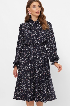 Сукня Дельфія д/р GL61174 колір синій з квітами
