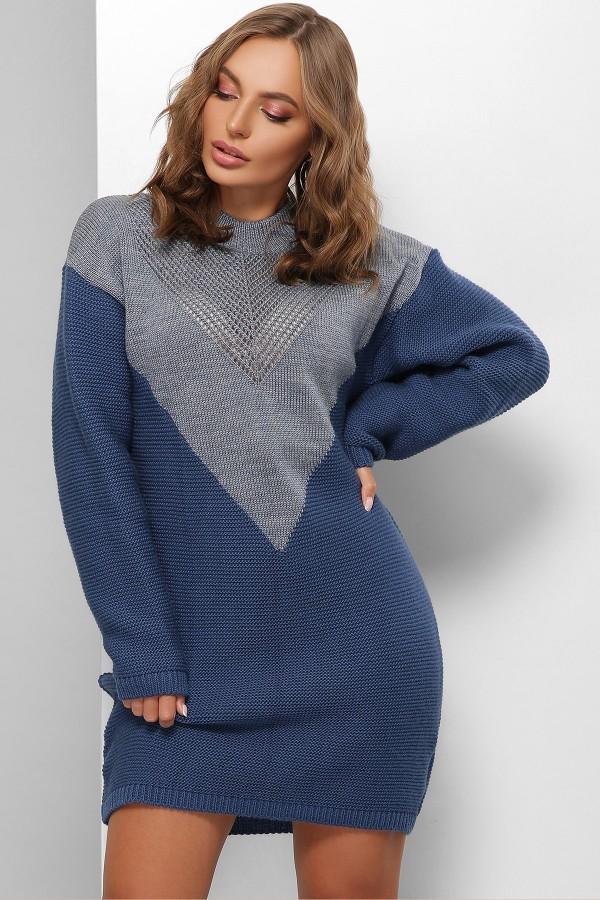 Плаття 181 GL61820 колір світлий джинс та синій