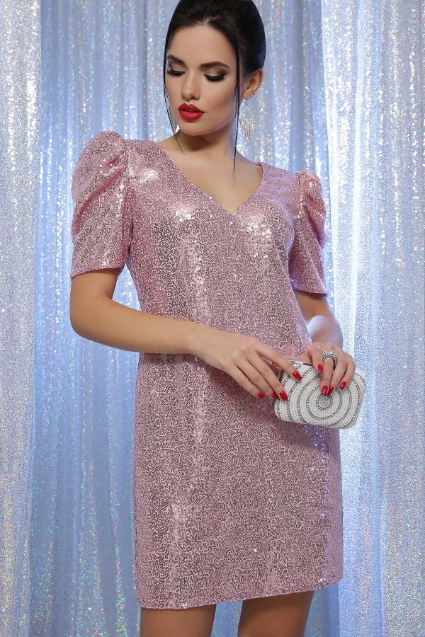 Платье Элозия к/р GL64199 цвет розовый-розовый