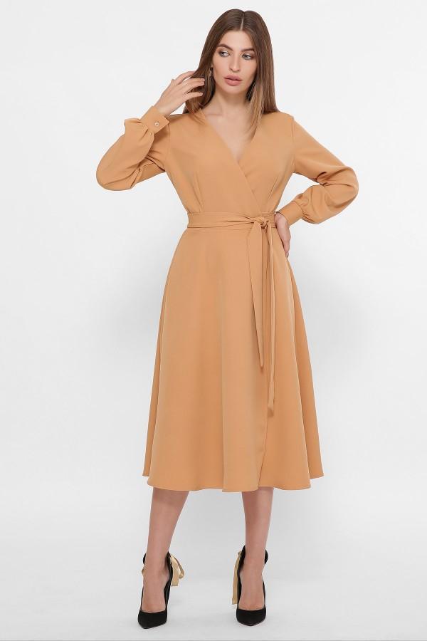 Сукня Дарена д/р GL61426 колір пісочний