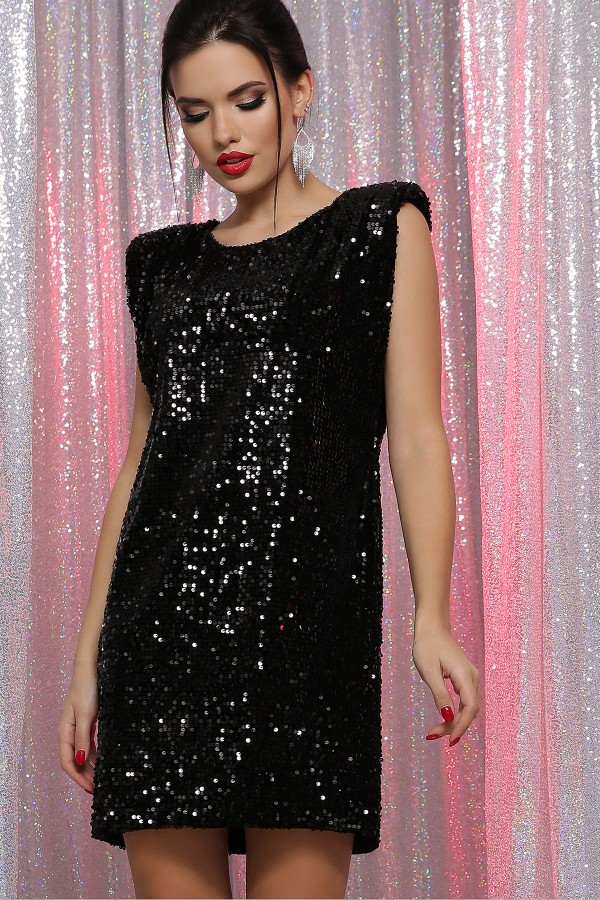 Платье Авелина б/р GL64491 цвет черный-черный