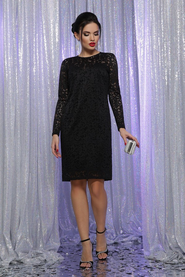 Платье Сания д/р GL63954 цвет черный
