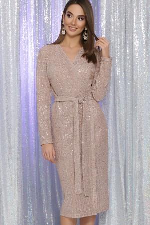 Святкова сукня Заліна GL65462 пудра