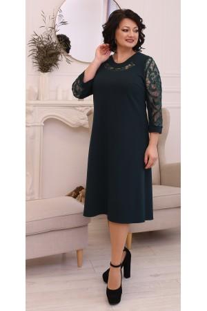Святкова сукня трапеція LB211103  зелений
