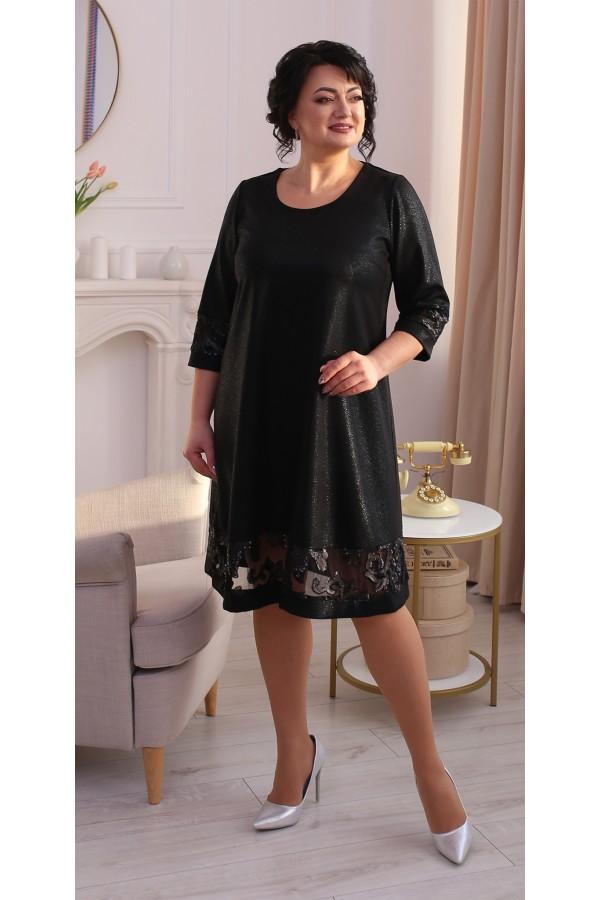 Святкова сукня трапеція LB212101 чорнний