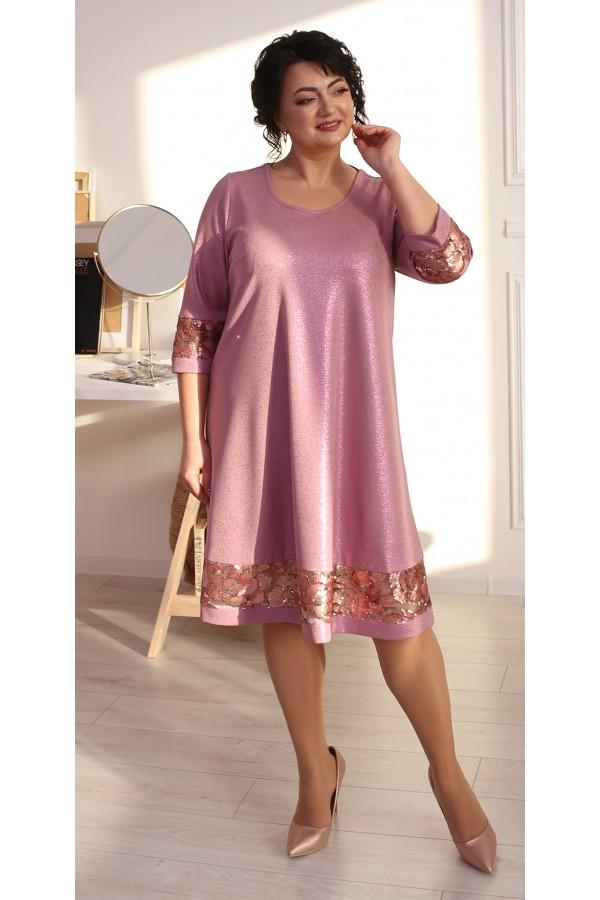 Святкова сукня трапеція LB212103 рожевий