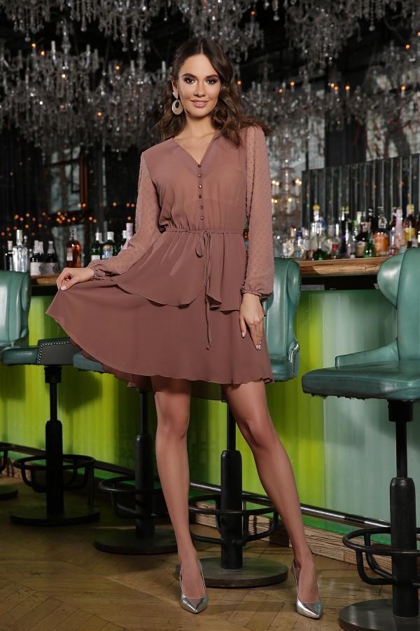 Сукня Лора д / р GL66593 колір капучино