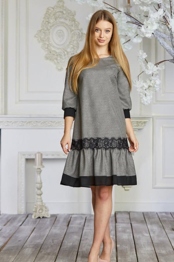 Черное весеннее платье сезона 2021 HD638101