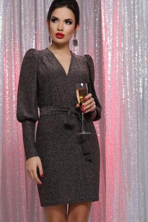 Плаття Зіта  GL64498 колір чорний-бронза