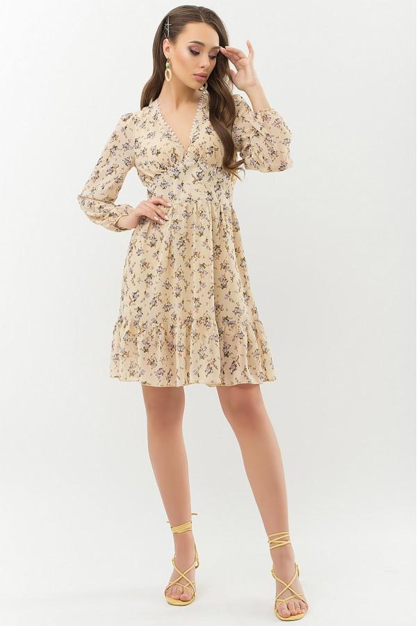 Шифонова весняна сукня 2021 Бернарда GL66457