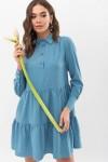 Плаття Наваль д/р GL67479 колір бірюза-точка біла