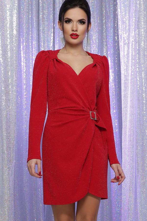Шикарне плаття Ніколь  GL64391 колір червоний