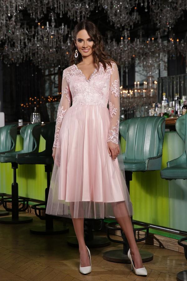 Святкова сукня Маріта GL66812 пудра