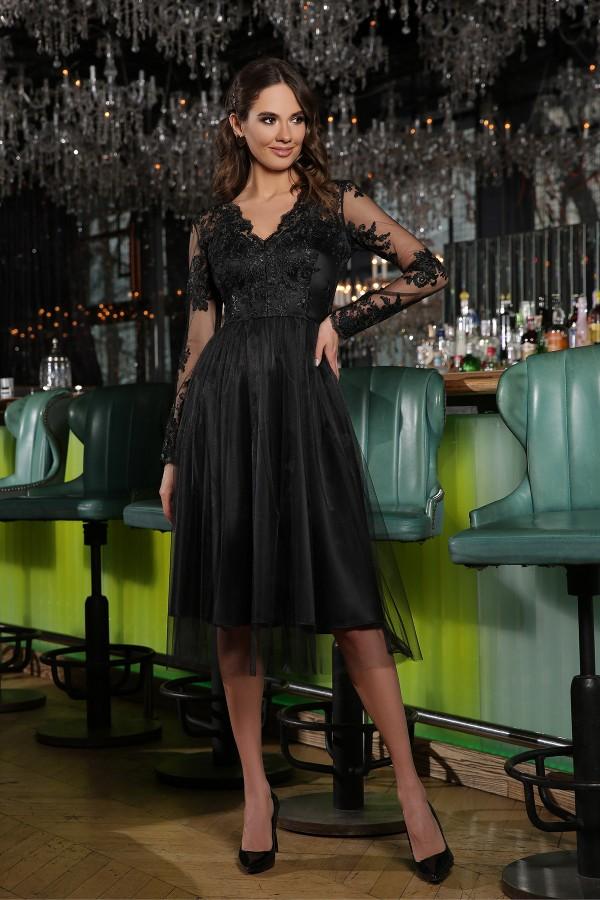 Святкова сукня Маріта GL66811  чорна