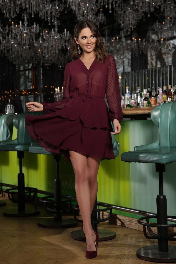 Сукня Лора д / р GL66595 колір бордо
