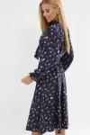 Сукня синя з квітами Дельфія д/р GL63306