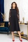 Сукня нарядна вільного крою . Розміри: 44-46, 46-48. Довжина сукні по спинці - 106см.