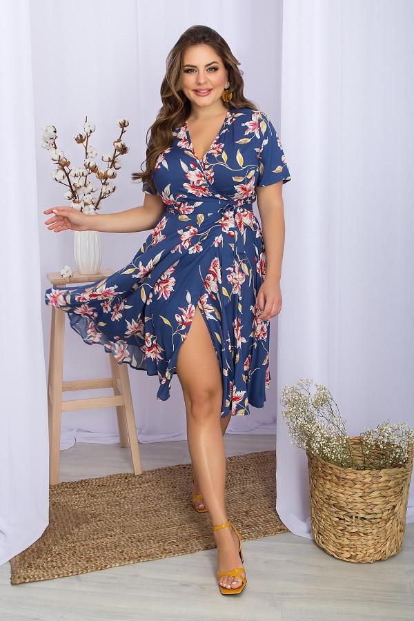 Сукня Аморина GL70286 синій квіти