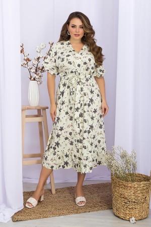 Плаття Пейдж-Б к / р GL 70479 колір ваніль-квіти пелюстки