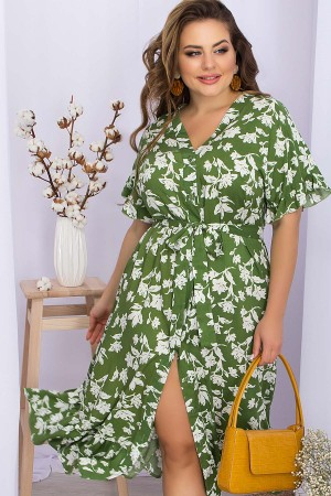 Плаття Пейдж-Б к / р GL 70476 колір зелений-білі квіти