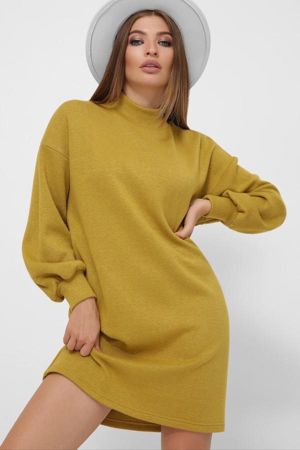 Тепла сукня Таліта  GL62379 гірчиця