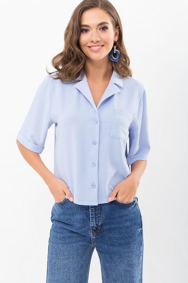 Блуза Шелви к/р GL69015 цвет голубой