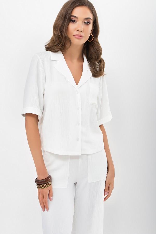 Блуза Шелви к/р GL69013 цвет молоко