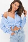Сорочка Оделіс д / р GL69946 колір блакитний