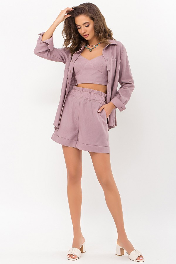 Рубашка Оделис д/р GL70880 цвет лиловый