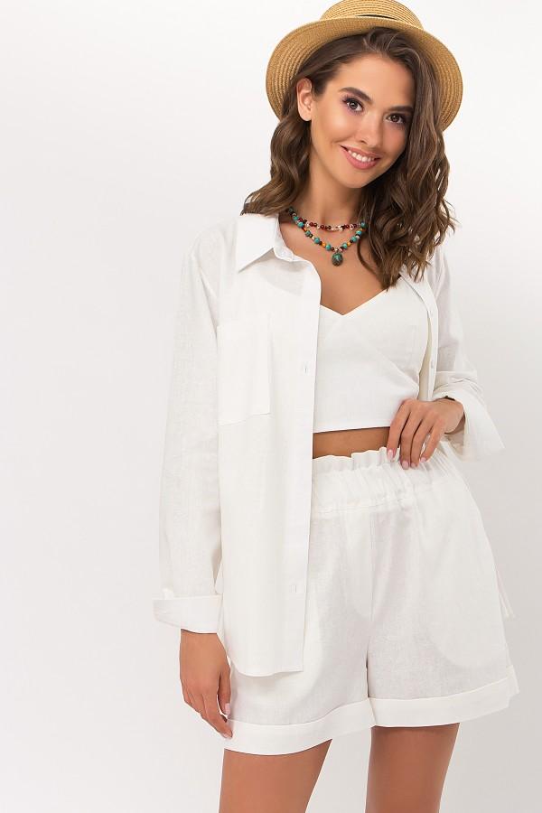 Рубашка Оделис д/р GL69763 цвет молоко