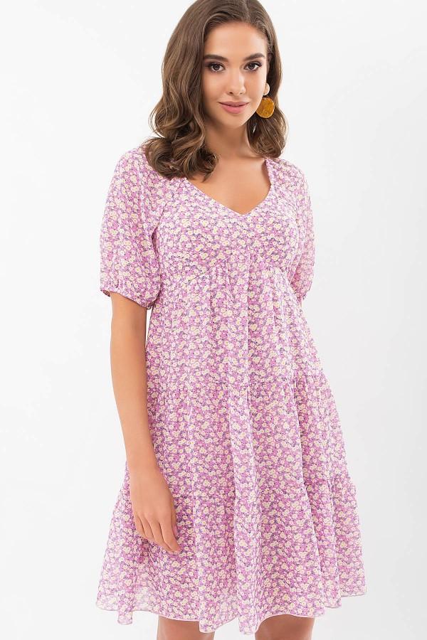 Плаття Хестер к/р GL69694 колір бузковий-м. квіти