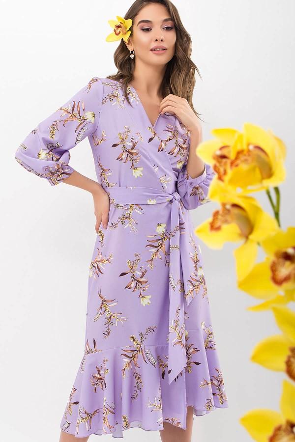 Сукня Сафура 3/4 GL68193 колір лавандовий-гілка