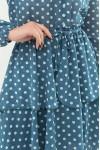 Модне плаття  Алора д / р GL66634 колір Бірюза-білий горох