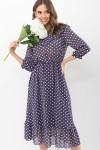 Сукня Палома д / р GL68124 Колір Синій-білий горох