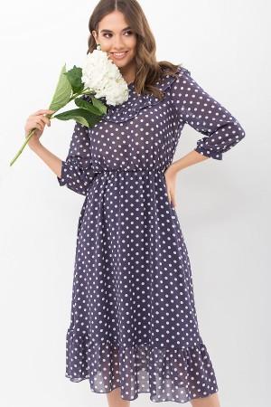 Плаття Палома д/р GL68124 колір синій-білий горох