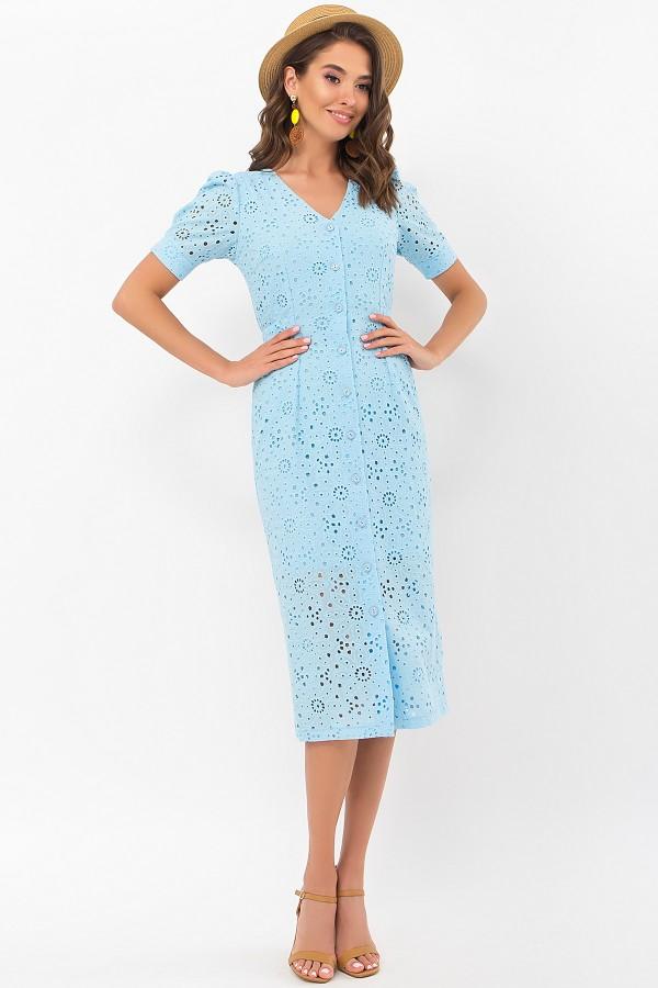 Платье Клера к/р GL69640 цвет голубой