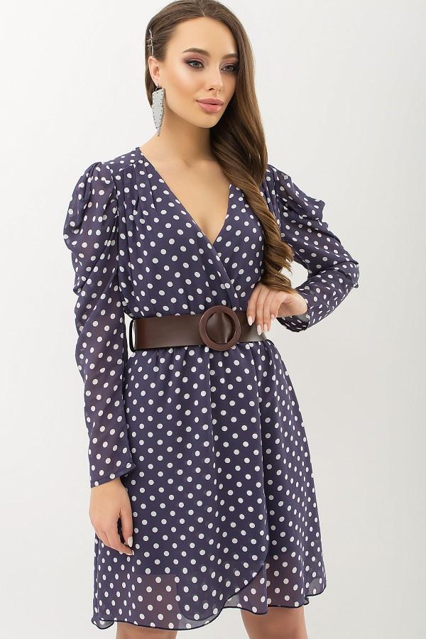 Сукня Лайса д / р GL66573 Колір Синій-білий горох