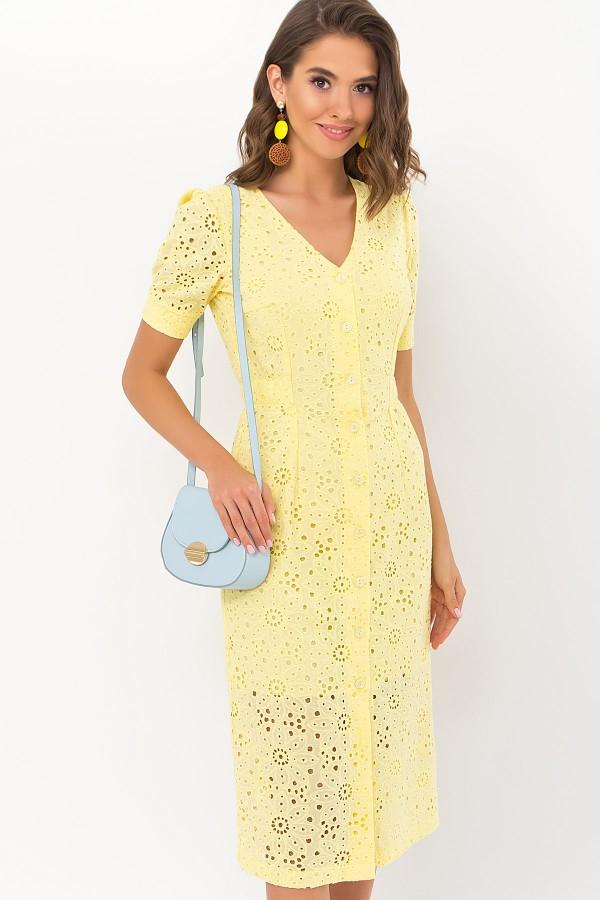 Платье Клера к/р GL69642 цвет желтый