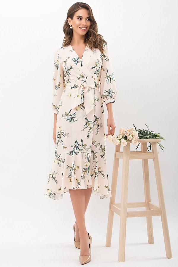 Платье Сафура 3/4 GL68196 цвет персик-ветка