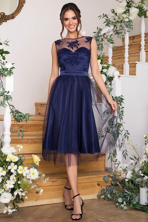 Чарівне плаття Паіса GL 67852 синій