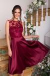 Чудова нарядна сукня Пайпер GL67851 бордового кольору