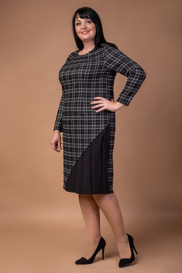 Коктельне плаття  2021 великого розміру  VN41201 чорний