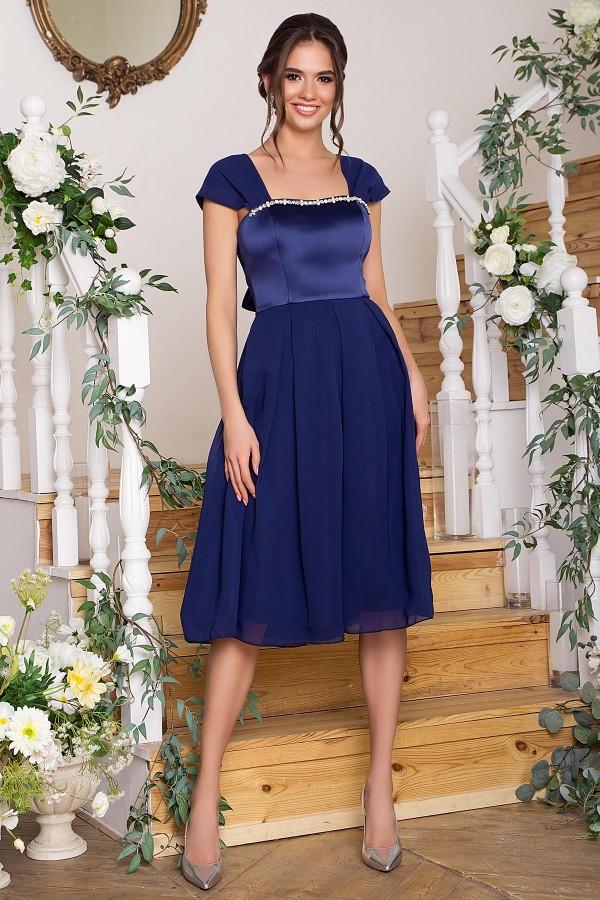 Вишукане вечірнє плаття Рузи GL67857 синє