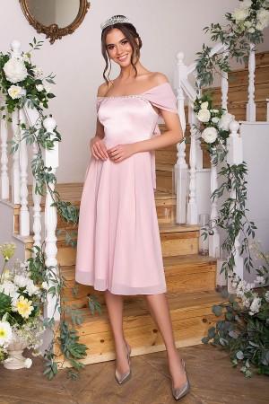 Вишукане вечірнє плаття Рузи GL67858 пудра
