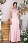 Чудова вечірня сукня  Лорена GL68831 пудрового кольору. Довжина  плаття максі.