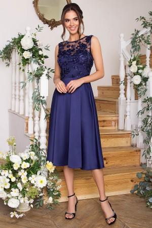 Чарівне вечірнє плаття Пайпер GL67853 синє