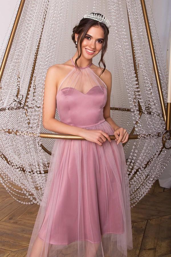Чудове вечірнє плаття Джена GL68827 св.бузкове