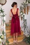 Чудова нарядна сукня GL67850 бордового кольору